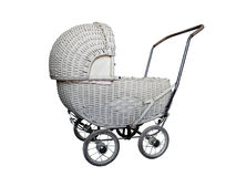 Cane doll's pram Stock Photography