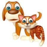 Cane e Cat Collection Immagine Stock Libera da Diritti