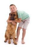 Cane e ragazzo Fotografia Stock