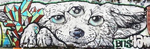 Cane e terzi occhi immagine stock