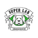 Cane eccellente di labrador retriever che indossa capo verde royalty illustrazione gratis