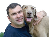 Cane ed uomo Fotografia Stock Libera da Diritti