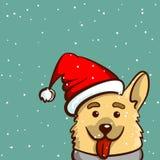 Cane felice di Snowy Fotografia Stock Libera da Diritti