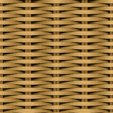 Cane flat woven fiber seamless pattern Royalty Free Stock Images