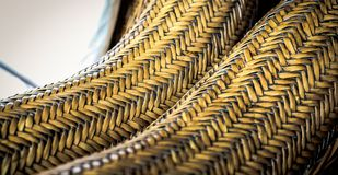 Cane Furniture weave pattern texture for design royalty free stock photography
