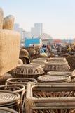 Cane furnitures, Indian handicrafts fair , Kolkata Stock Photos