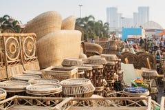 Cane furnitures, Indian handicrafts fair , Kolkata Royalty Free Stock Images