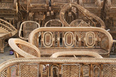 Cane furnitures, Indian handicrafts fair Royalty Free Stock Image