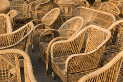 Cane furnitures , Indian handicrafts fair Royalty Free Stock Images