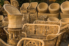 Cane furnitures, Indian handicrafts fair Stock Photography