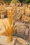 Cane furnitures, Indian handicrafts fair Royalty Free Stock Photography