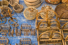 Cane furnitures, Indian handicrafts fair Royalty Free Stock Photo