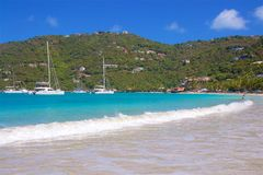 Cane Garden Bay in Tortola, Caribbean Stock Photo