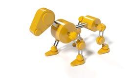 Cane giallo del robot rappresentazione 3d royalty illustrazione gratis