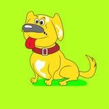 Cane giallo divertente illustrazione vettoriale