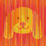 Cane giallo a strisce Fotografia Stock