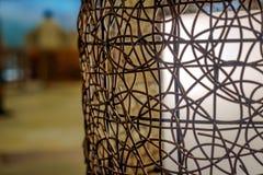 Cane lamp shade Stock Photo