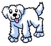 Cane lanuginoso felice bianco del fumetto royalty illustrazione gratis