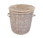 Cane laundry basket Stock Photos