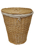 Cane Laundry Hamper Stock Photo