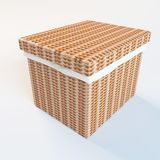 Cane laundry hamper Royalty Free Stock Images
