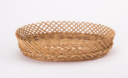 The cane makes up a basket Stock Photography