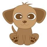 Cane marrone sembrante sveglio con i grandi occhi e le grandi orecchie Fotografie Stock Libere da Diritti