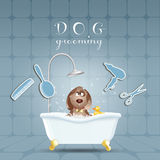 Cane nel bagno per governare royalty illustrazione gratis
