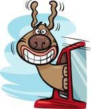 Cane nell'illustrazione del fumetto dell'automobile Immagini Stock Libere da Diritti