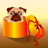 Cane nella casella illustrazione vettoriale