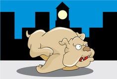 Cane nella via royalty illustrazione gratis