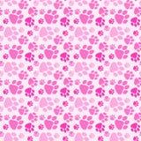 Cane Paw Prints Seamless Background della ragazza Fotografia Stock Libera da Diritti