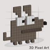 Cane. Pixel Art. Vector Illustrazione di Stock