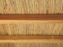 Cane Roof Abstract. The pattern of a cane-made shelter stock photography