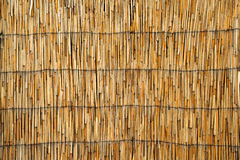 Cane roof texture Royalty Free Stock Images