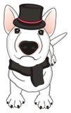 Cane in sciarpa e cappello Fotografia Stock Libera da Diritti