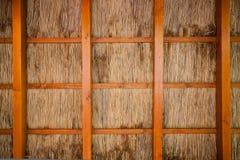 Cane shelter background Stock Image