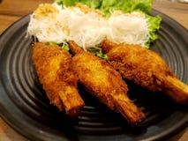 Cane shrimp. Vietnam food cane shrimp with noodle Stock Image