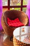 Cane  sofa Stock Image