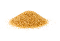 Cane sugar. Isolated on the white background stock photos