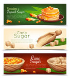 Cane Sugar Banners Set Immagini Stock