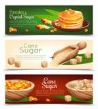 Cane Sugar Banners Set illustration libre de droits