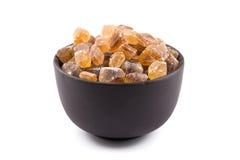 Cane sugar in a bowl Royalty Free Stock Photos