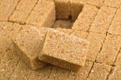Cane sugar cubes Royalty Free Stock Photos