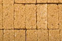 Cane sugar cubes Royalty Free Stock Images