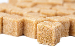 Cane sugar cubes isolated Stock Photos