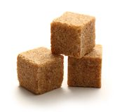 Cane sugar cubes Stock Image