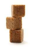 Cane sugar cubes Royalty Free Stock Photography