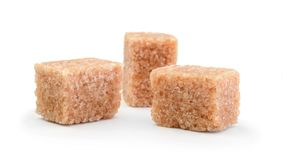 Cane sugar isolated on white Royalty Free Stock Photography