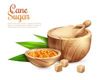 Cane Sugar Pail Background Image libre de droits
